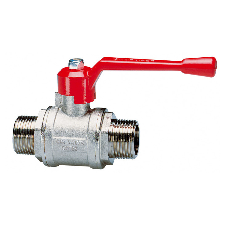 Male/male ball valves