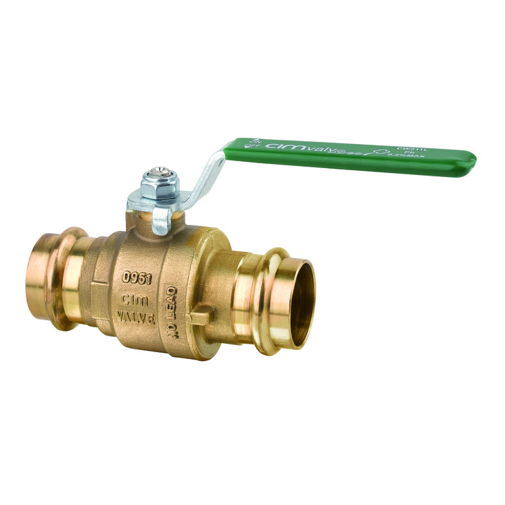 Ball valves with press fittings