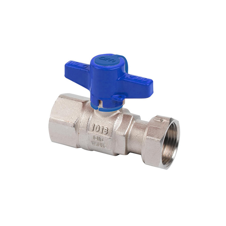 Water-meter inlet side ball valves