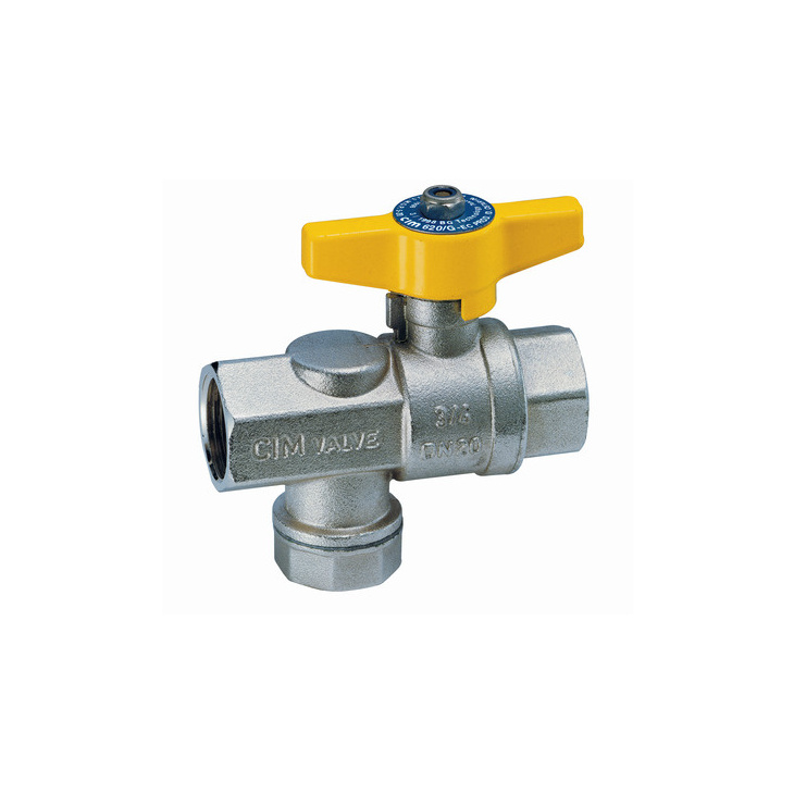 Ball valves with gas filter