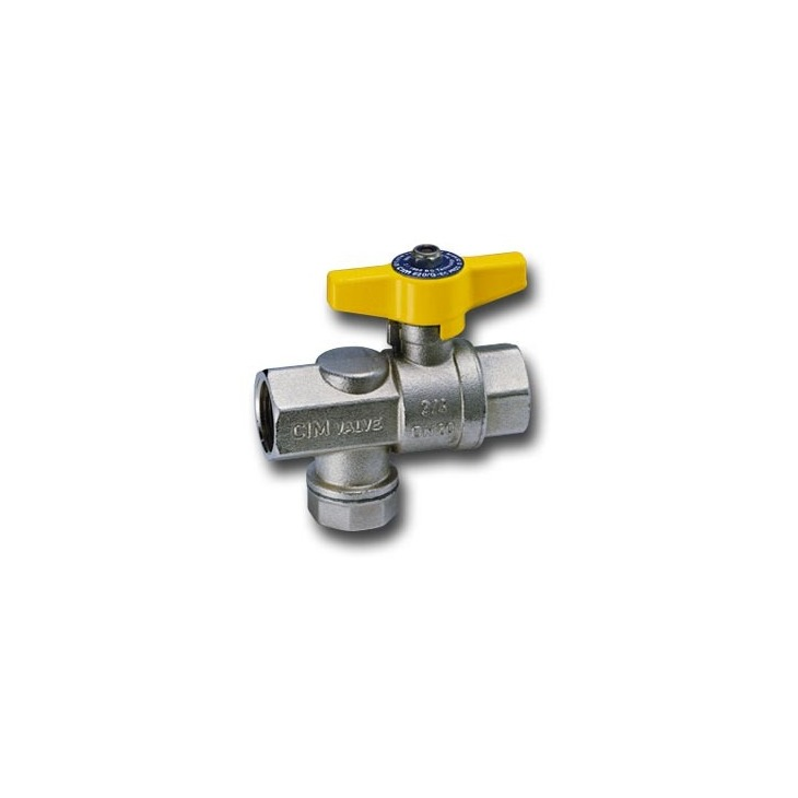 Gas ball valves with filter
