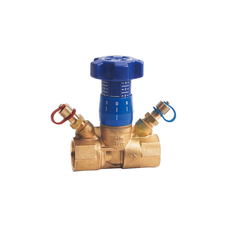 Variable orifice manual balancing valve
