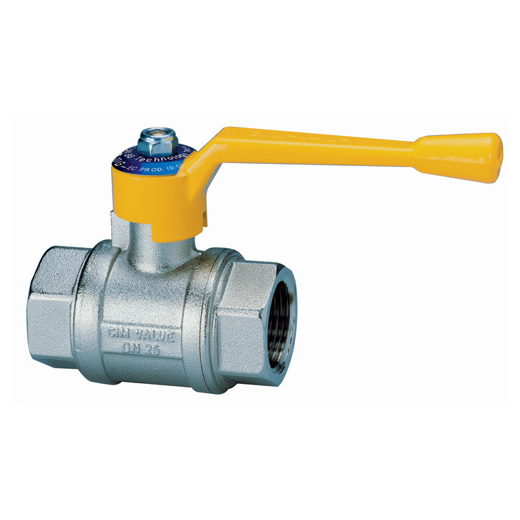 Female/female ball valves for gas