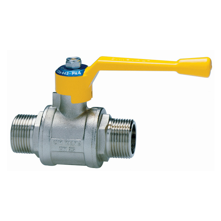 Male/male ball valves for gas