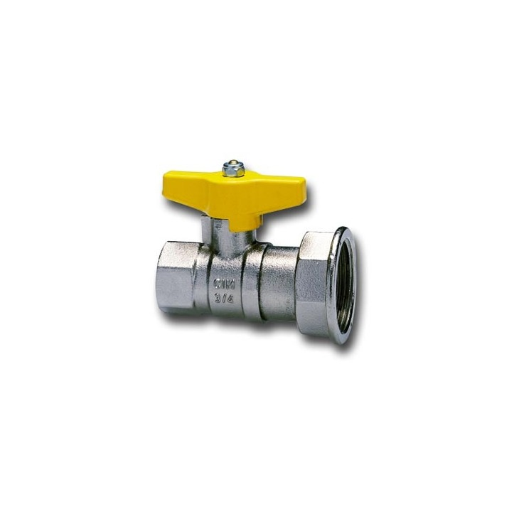Gas meter ball valves